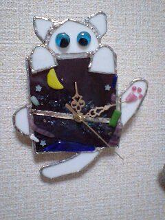 みーこさん☆ 七夕猫時計