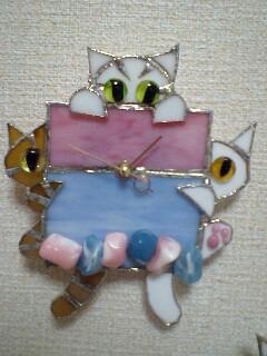 優しい 猫時計