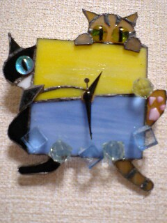 にゃんとにゃく 猫時計