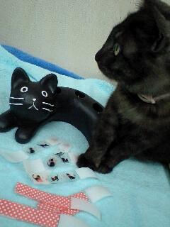 黒猫傘立てとか