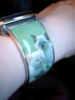 横浜猫の美術館猫腕時計