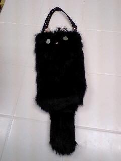 黒猫ペットボトルケース
