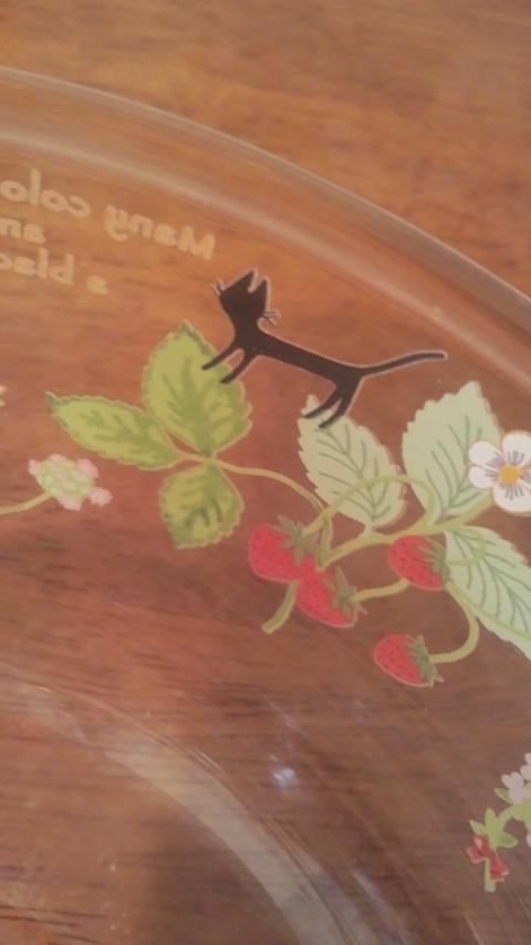 黒猫ガラスボウルとカップ
