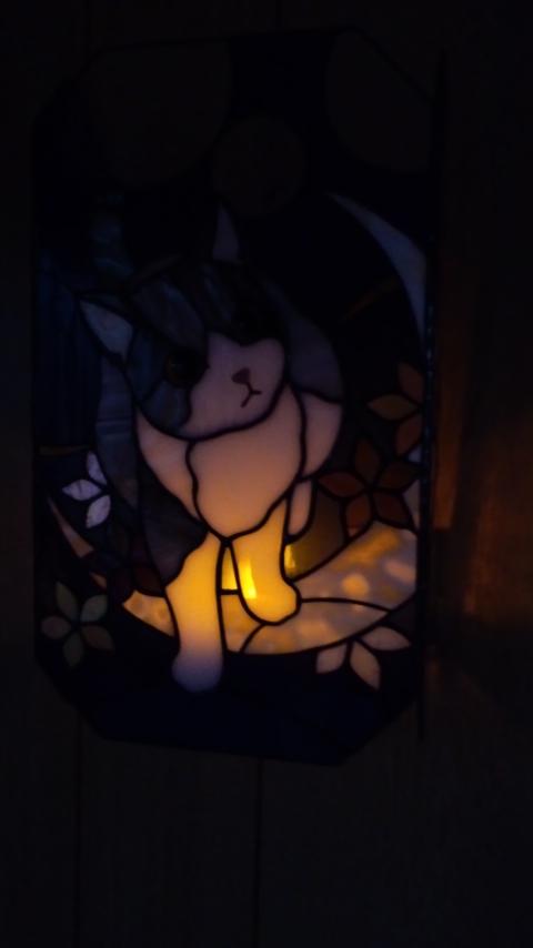 コードレス猫ランプ