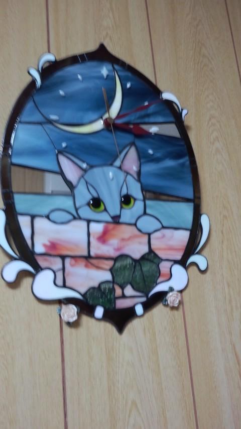 猫時計の位置