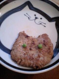 猫型ハンバーグ ホワイトカレー